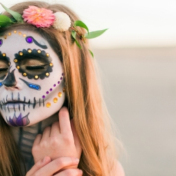 sugar skull inspired shoot