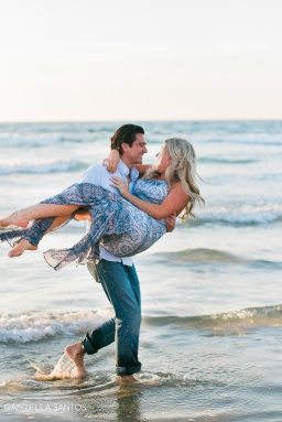 black sand beach engagements with aly + jonathan
