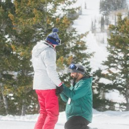 a picture perfect powder mountain proposal