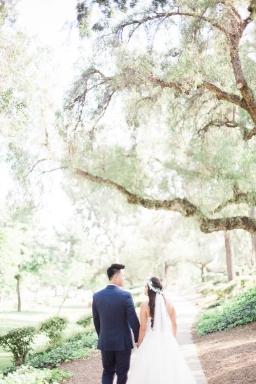 wedding of tessa + alex // tustin california, backyard summertime wedding