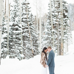 wedding of roni + robert // park city utah winter wedding